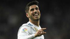 Asensio celebra un gol con el Real Madrid. (AFP)