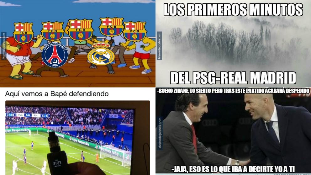 Los mejores memes del PSG – Real Madrid.