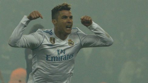 Cristiano Ronaldo celebra el 0-1. (AFP)
