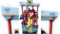 La figura del 'Dimoni' golpista de Badalona para las Fiestas de Mayor 2018.