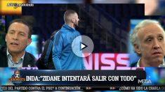 Eduardo Inda tiene claro que Benzema no da el nivel para el Real Madrid.