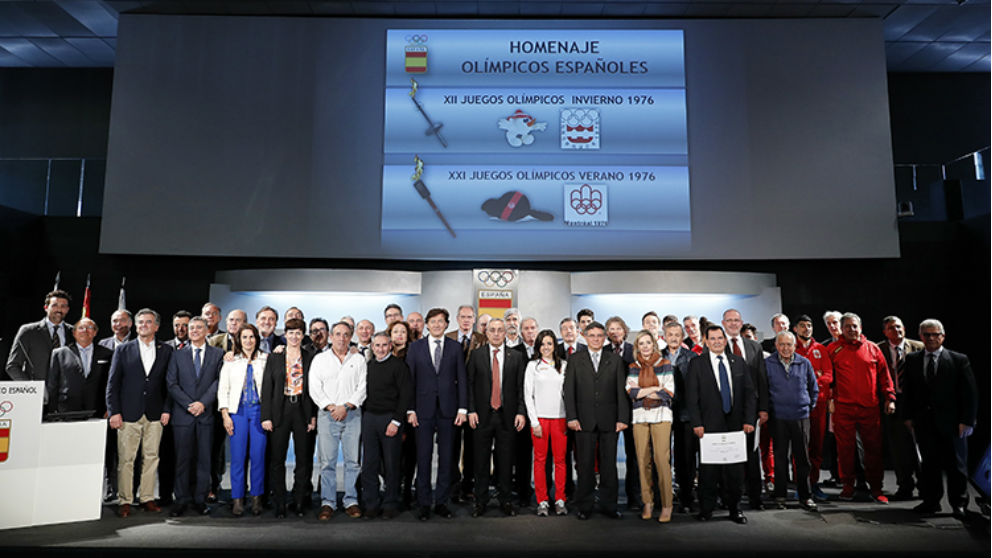 Homenaje al Equipo Olímpico Español de los Juegos de Montreal e Innsbruck 1976.
