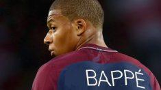 Mbappé, con la nueva camiseta que se filtró en las redes sociales.