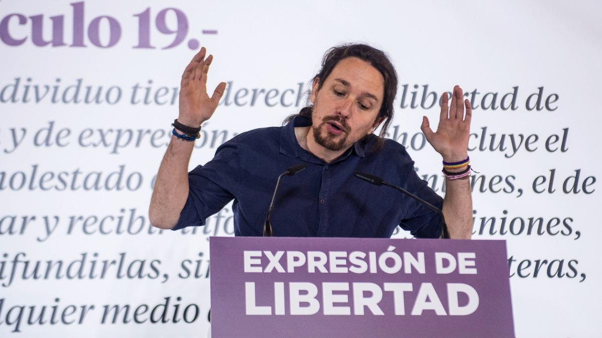 Pablo Iglesias en un acto sobre libertad de expresión. (Foto: Podemos)