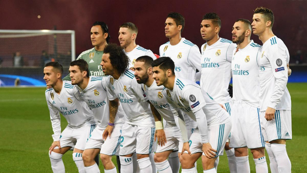 Alineación titular del Real Madrid ante el PSG. (Getty)