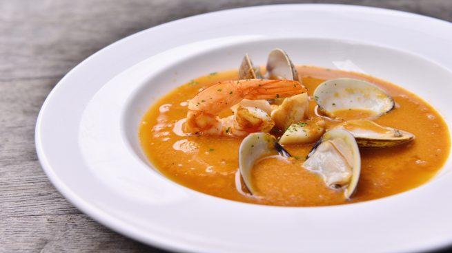 Receta de sopa de marisco y pescado - Sopa de marisco y pescado ...