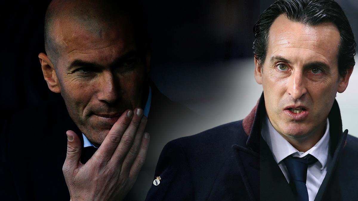 Zinedine Zidane firma el finiquito de Unai Emery con el PSG – Real Madrid.