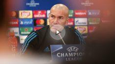 Zinedine Zidane, en rueda de prensa previa a un partido de Champions. (AFP)