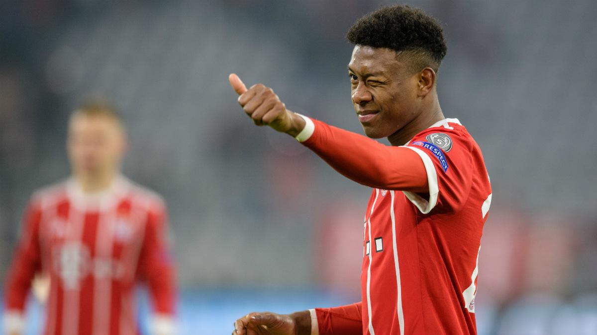 Alaba durante un partido con el Bayern de esta temporada. (AFP)