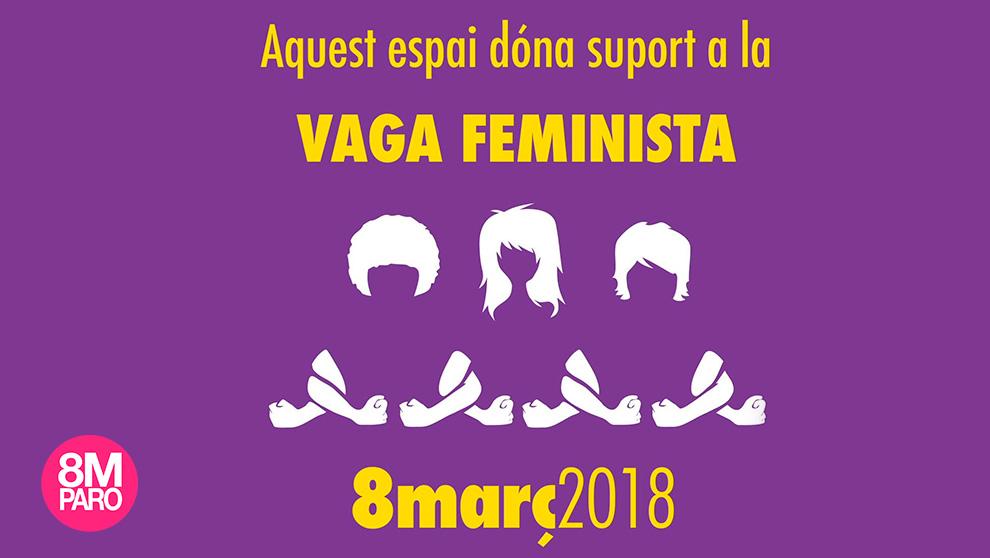 Cartel de la huelga feminista del 8-M convocada en Cataluña