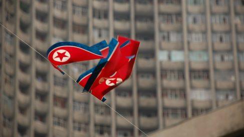 Banderas de Corea del Norte.