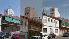 El antes, durante (mayo de 2012) y después de las obras (actualmente).
