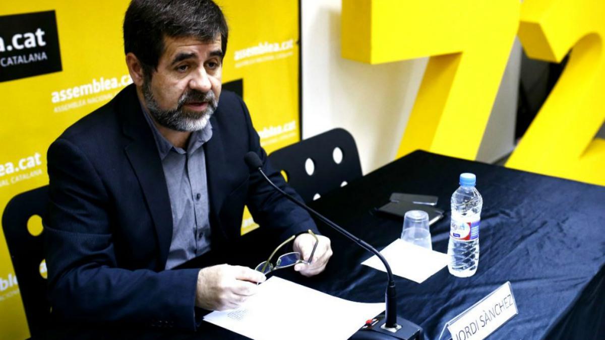 El presidente de la Asamblea Nacional Catalana (ANC), Jordi Sànchez.