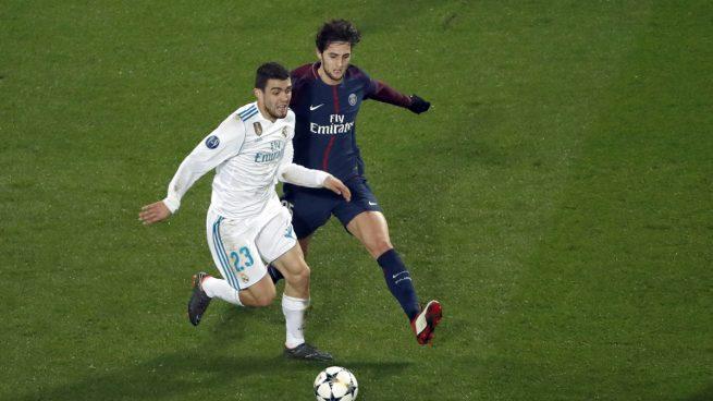 Kovacic, en una acción con Rabiot (AFP).
