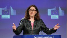 La comisaria europea de Comercio, Cecilia Malmström, responde a los aranceles anunciados por Trump.