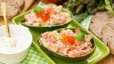Receta de Aguacates rellenos de salmón fácil de preparar