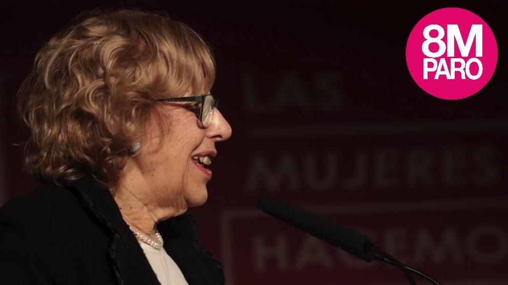 Manuela Carmena en el acto institucional del 8M. (Foto. Madrid)