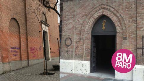 Varias iglesias este 8 de marzo de 2018.