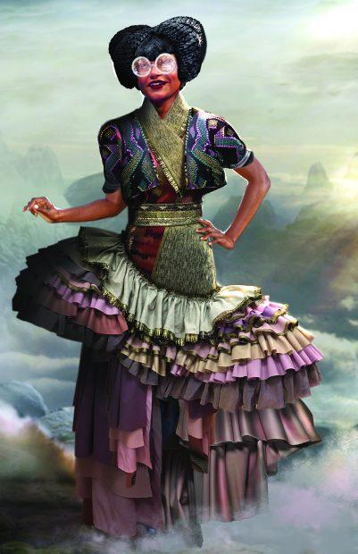 Un diseño virtual de vestuario para Mindy Kaling en 'Un pliegue en el tiempo'.
