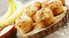 Receta de Muffins de plátano y avena: un dulce saludable