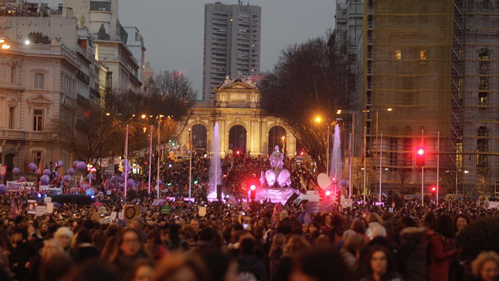 Manifestación por el día de la Mujer en Madrid. (Foto: Francisco Toledo)