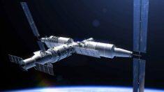 Una estación espacial que se ha convertido en un meteorito