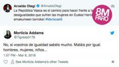 'Tuit' de Arnaldo Otegi.