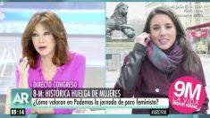 Ana Rosa Quintana entrevista a Irene Montero.