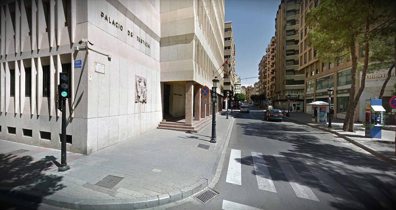 Fachada de la Audiencia Provincial de Albacete.