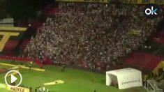 Avalancha en la grada durante el Sport Recife – Santa Cruz.