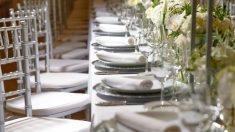 Protocolo para una cena de gala.