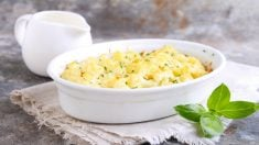 Receta de coliflor gratinada al horno fácil paso a paso