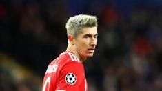 Lewandowski, durante un partido con el Bayern. (Getty Images)