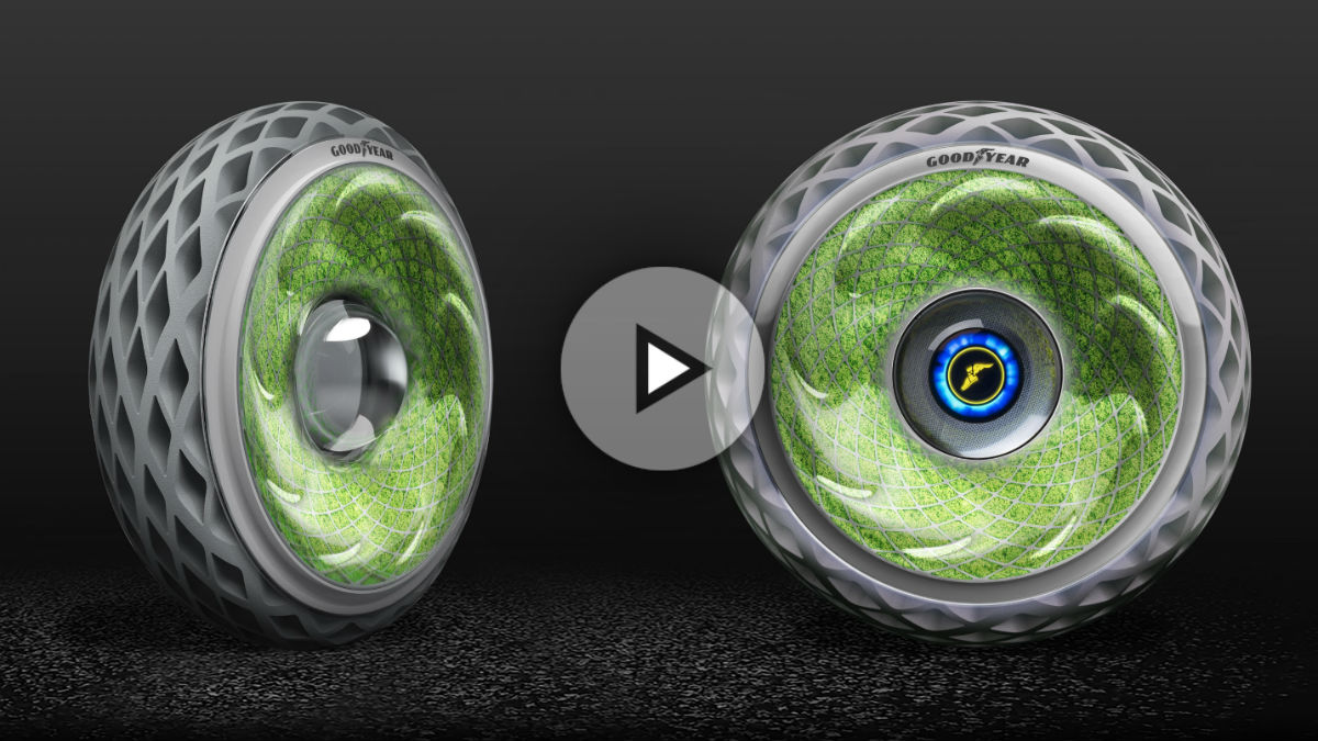 El Goodyear Oxygene es el último prototipo de la firma de neumáticos, con el que se propone una nueva tecnología que hará de estos mucho más sostenibles y, por tanto, respetuosos con el medio ambiente.