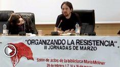 Pablo Iglesias, en las jornadas 'Organizando la resistencia', en 2013.