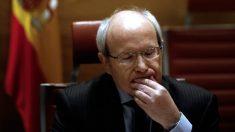 El ex líder del PSC José Montilla, en la comisión de financiación de partidos del Senado. (EFE)