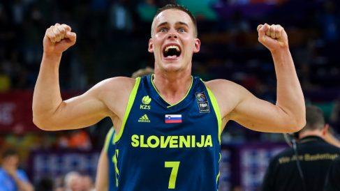 Prepelic celebra una victoria con Eslovenia: (Getty)