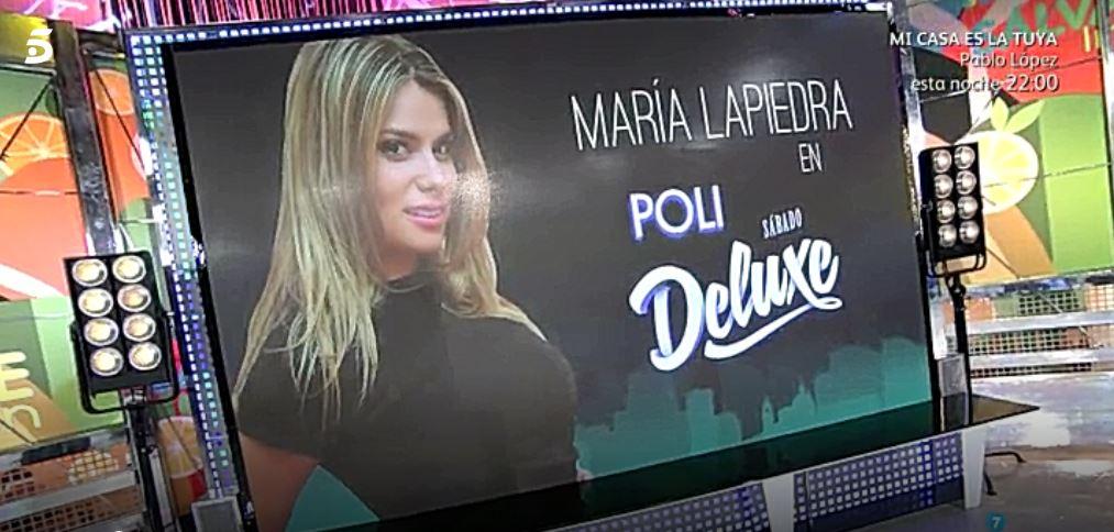 Marís Lapiedra en 'Sábado Deluxe'. (Foto: Telecinco).