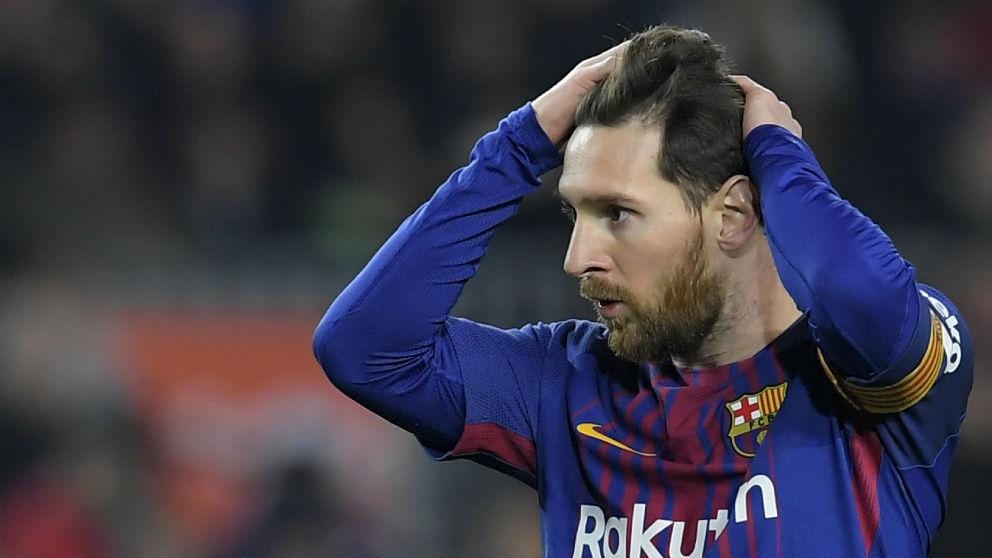 Leo Messi, en un partido con el Barcelona. (AFP)