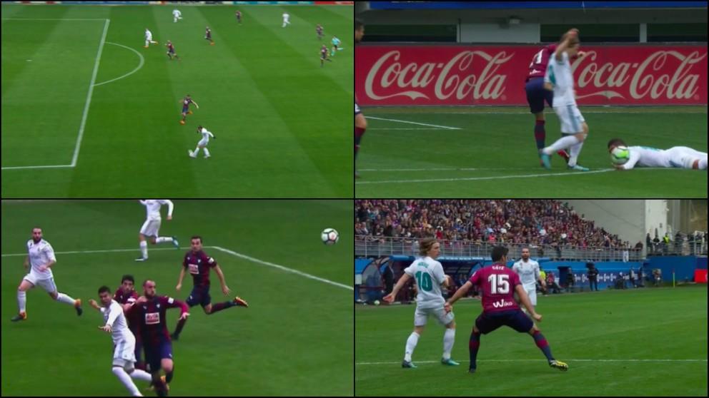 Las jugadas polémicas del Eibar – Real Madrid.