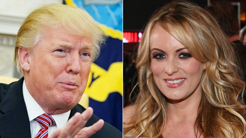 Donald Trump y 'Stormy Daniels'. (Foto: AFP)
