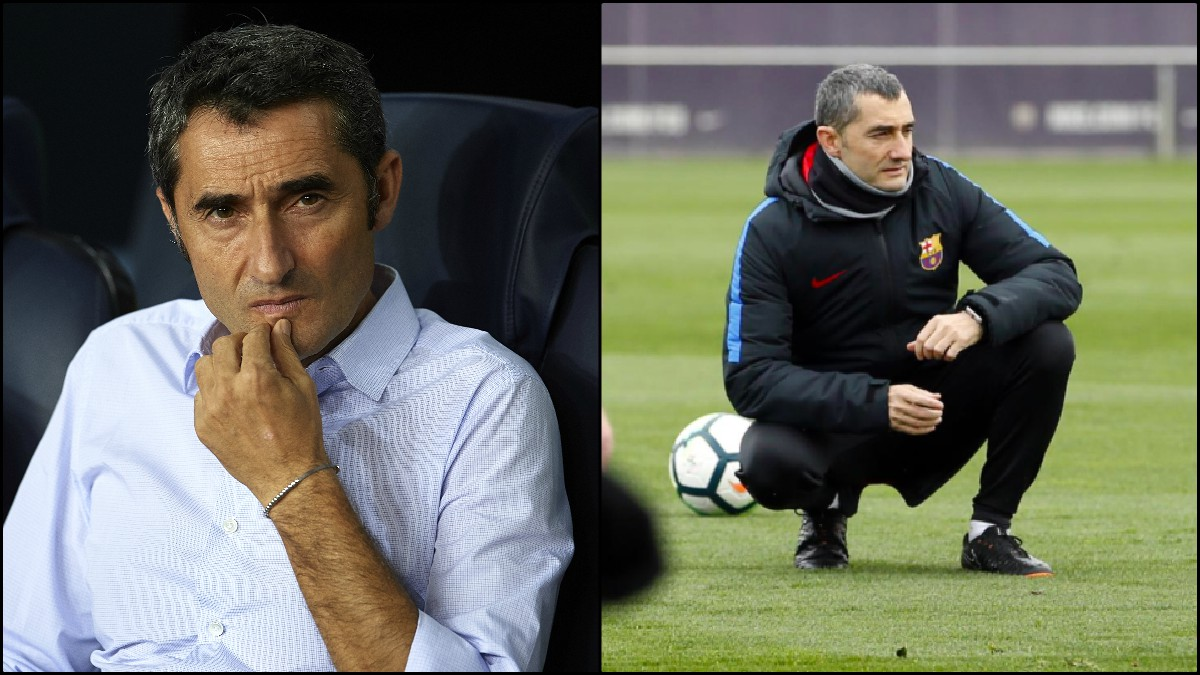 Ernesto Valverde: Es el que menos tiempo lleva al frente del Barcelona desde que tomara el relevo de Luis Enrique el pasado verano. Pero en apenas unos meses sí se nota cierto paso del tiempo en su rostro (Getty)