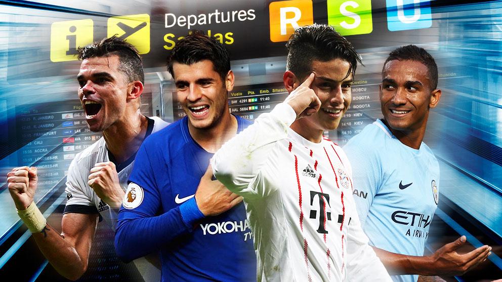 El tiempo ha dado la razón al Real Madrid con las salidas de James, Morata, Danilo y Pepe.