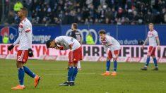 Los jugadores del Hamburgo, en un partido. (AFP)