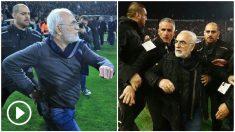 El presidente del PAOK, en el momento de la invasión.