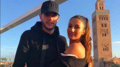 Theo y su novia en Marrakech.