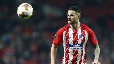Vitolo, durante un partido con el Atlético de Madrid. (AFP)
