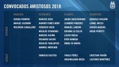Convocatoria de Argentina para enfrentarse a España. (afa.com.ar)