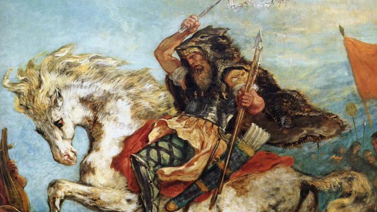 Retrato de Atila por Eugène Delacroix