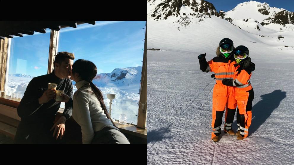 Escapada romántica a la nieve de Cristiano Ronaldo y Georgina Rodríguez. (@georginagio)